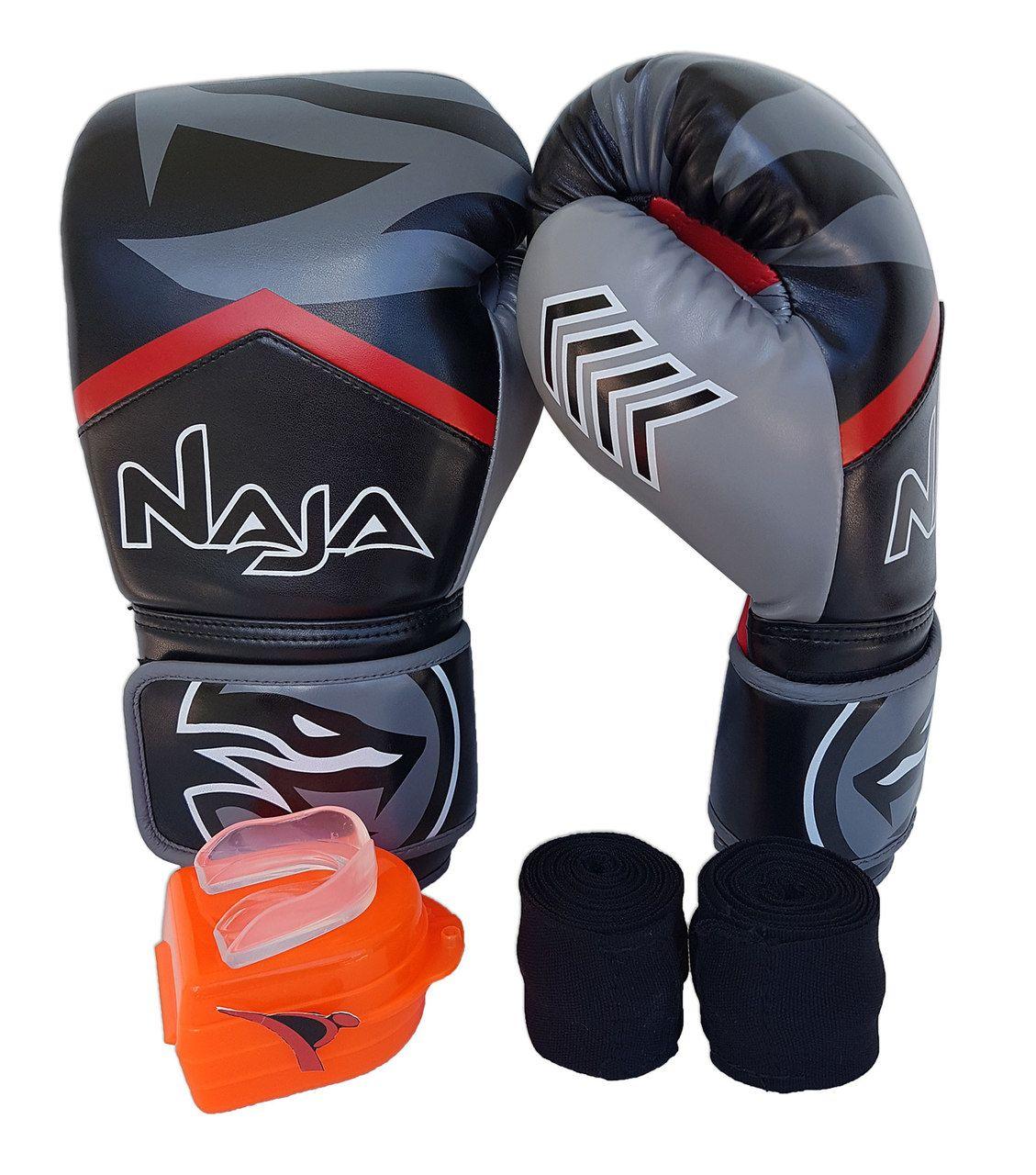 Kit De Boxe / Muay Thai 14oz - Preto - New Extreme - Naja  - PRALUTA SHOP