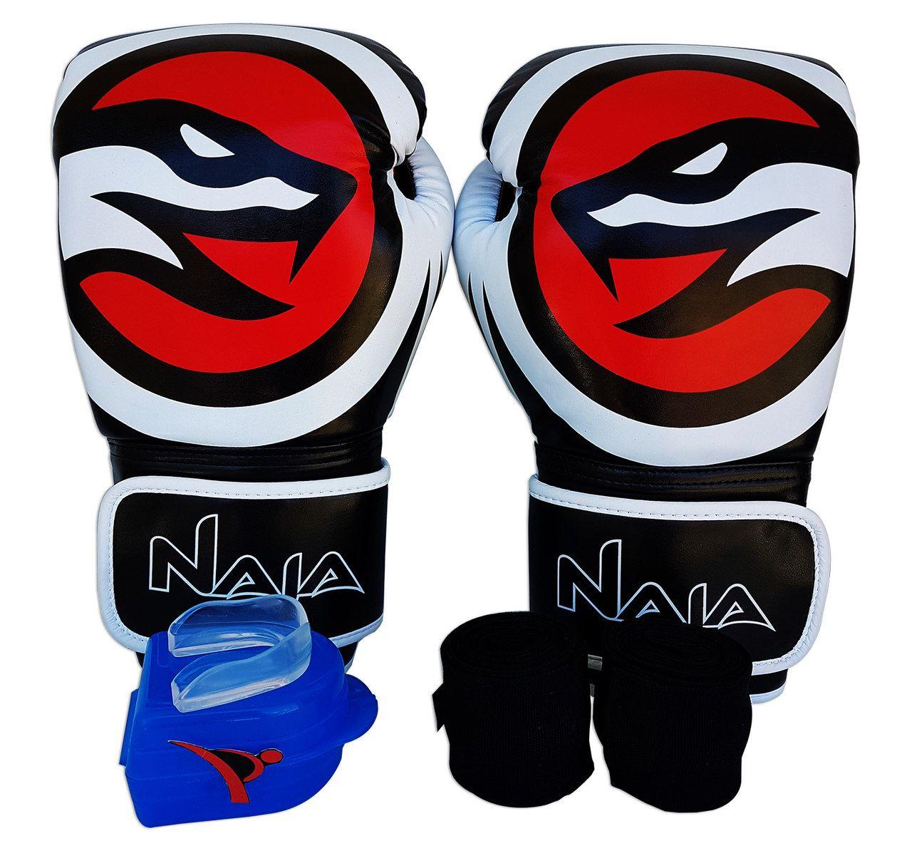 Kit De Boxe / Muay Thai 14oz - Preto - OPP - Naja  - PRALUTA SHOP
