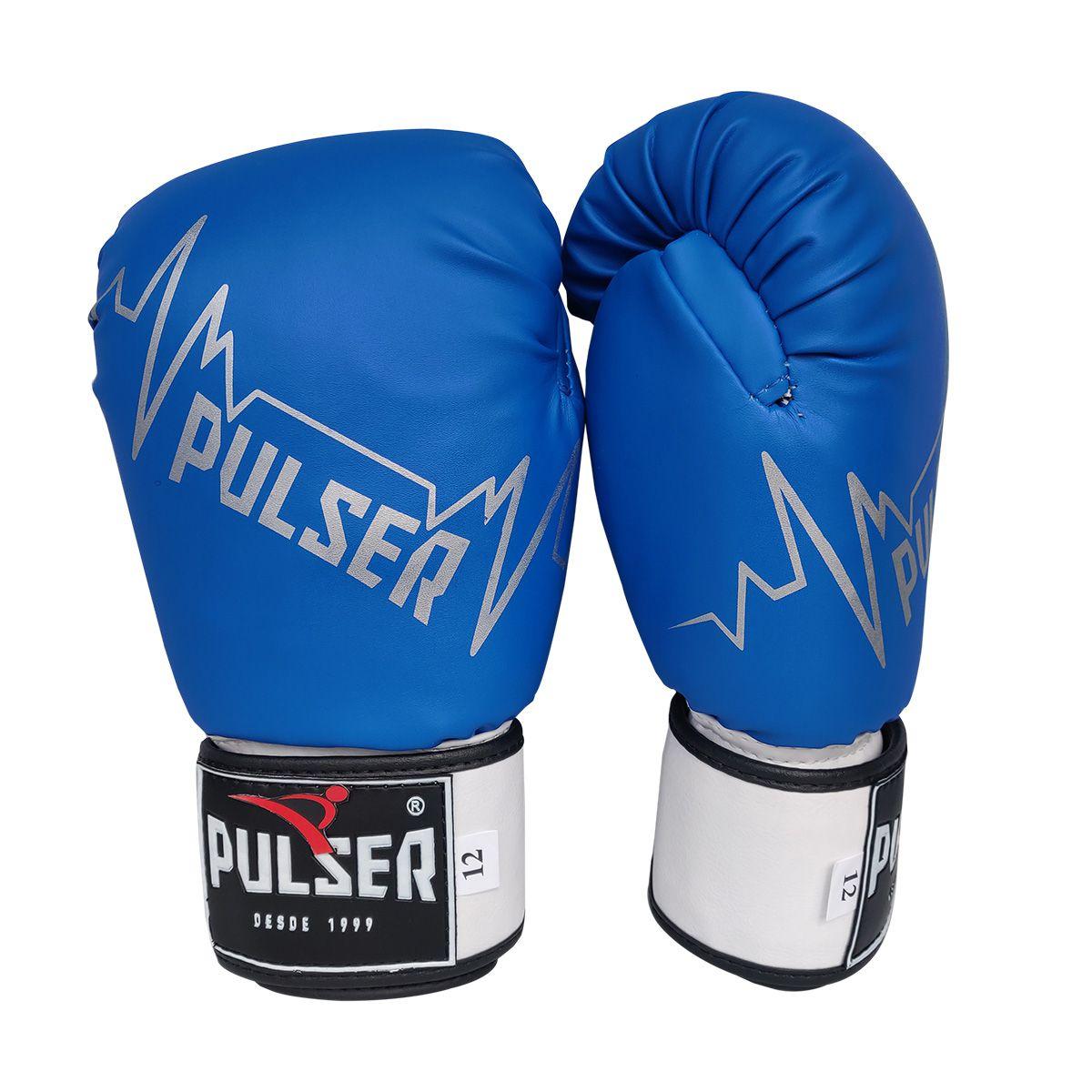 Kit de Muay Thai / Kickboxing 10oz - Azul / Preto Pulser Logo - Pulser  - PRALUTA SHOP