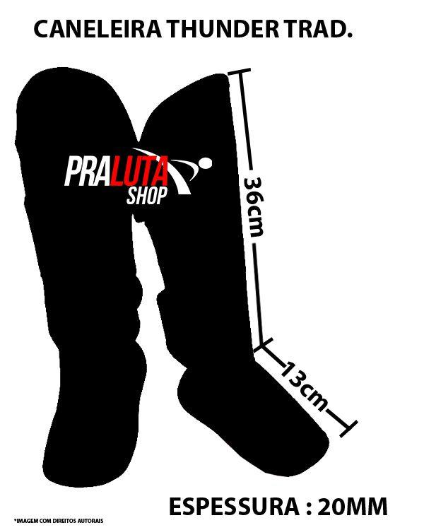 Kit de Muay Thai / Kickboxing 12oz - Iron Preto - Pulser  - PRALUTA SHOP
