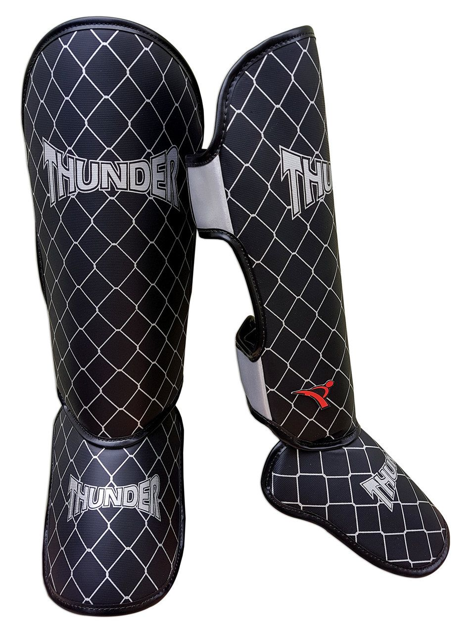 Kit de Muay Thai / Kickboxing 12oz - Preto - Thunder Fight  - PRALUTA SHOP