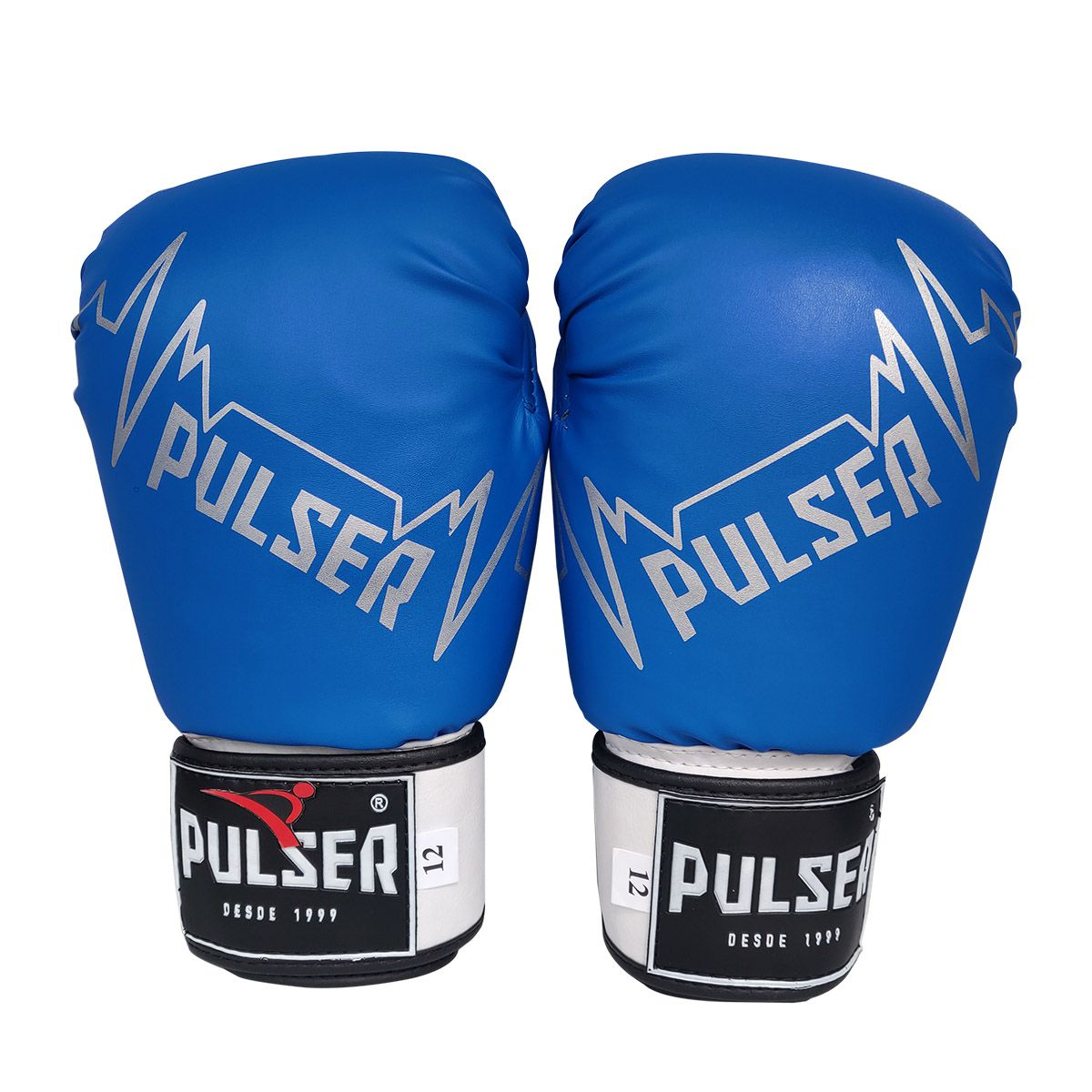 Kit de Muay Thai / Kickboxing 14oz - Preto e Azul Pulser Logo - Pulser  - PRALUTA SHOP