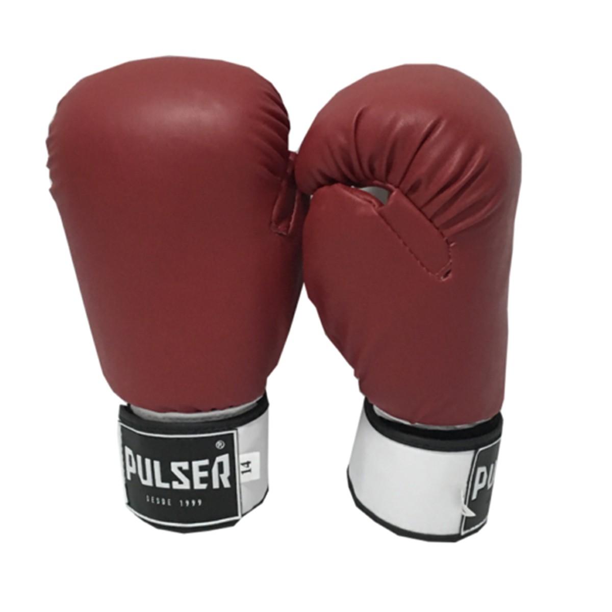 Kit de Muay Thai / Kickboxing 14oz - Vermelho - Pulser  - PRALUTA SHOP