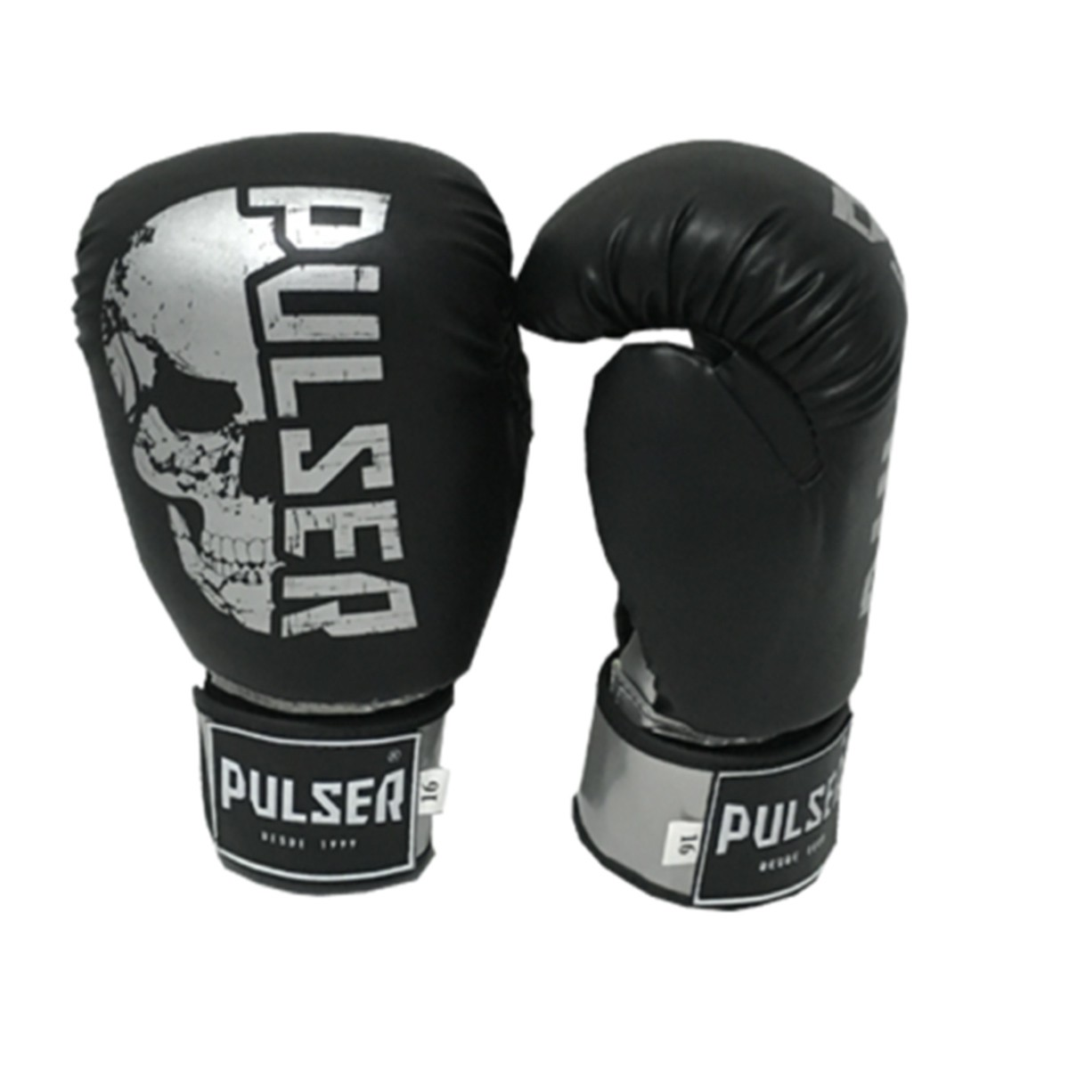 Kit de Muay Thai / Kickboxing 16oz - Preto Caveira - Pulser  - PRALUTA SHOP