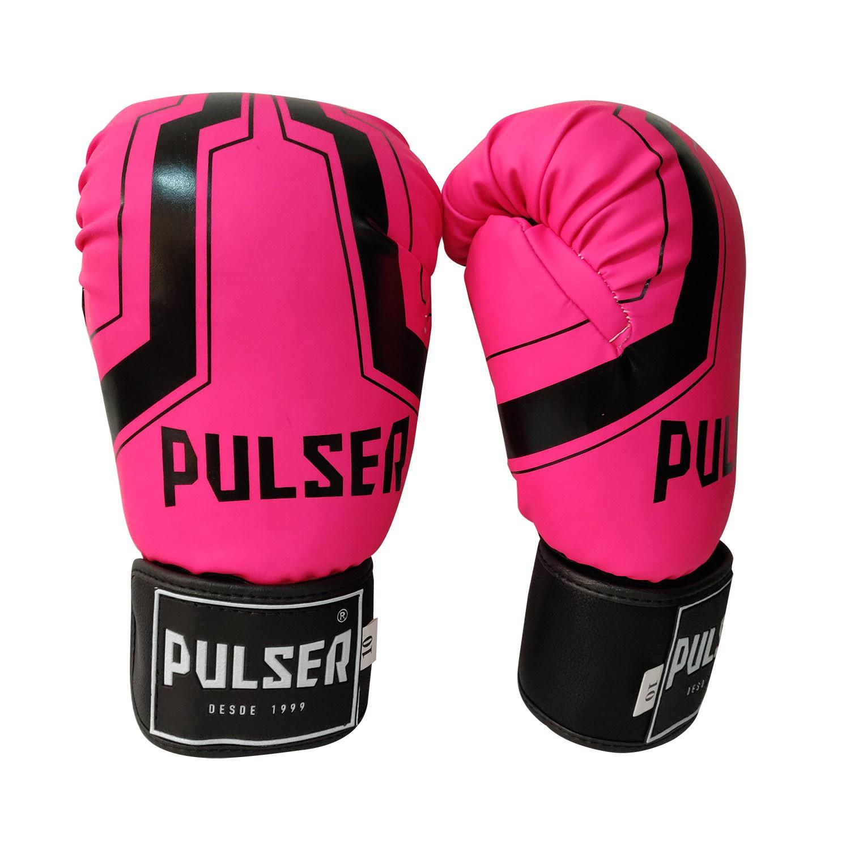 Kit de Muay Thai / Kickboxing Feminino 10oz - Rosa Pink  Iron - Pulser  - PRALUTA SHOP