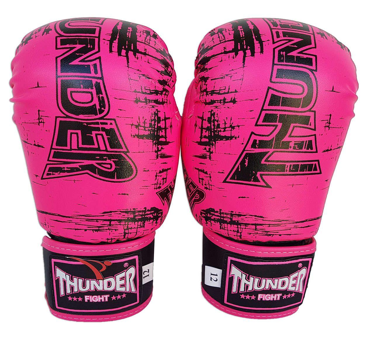 Kit de Muay Thai / Kickboxing Feminino 12oz - Rosa - Thunder Fight  - PRALUTA SHOP