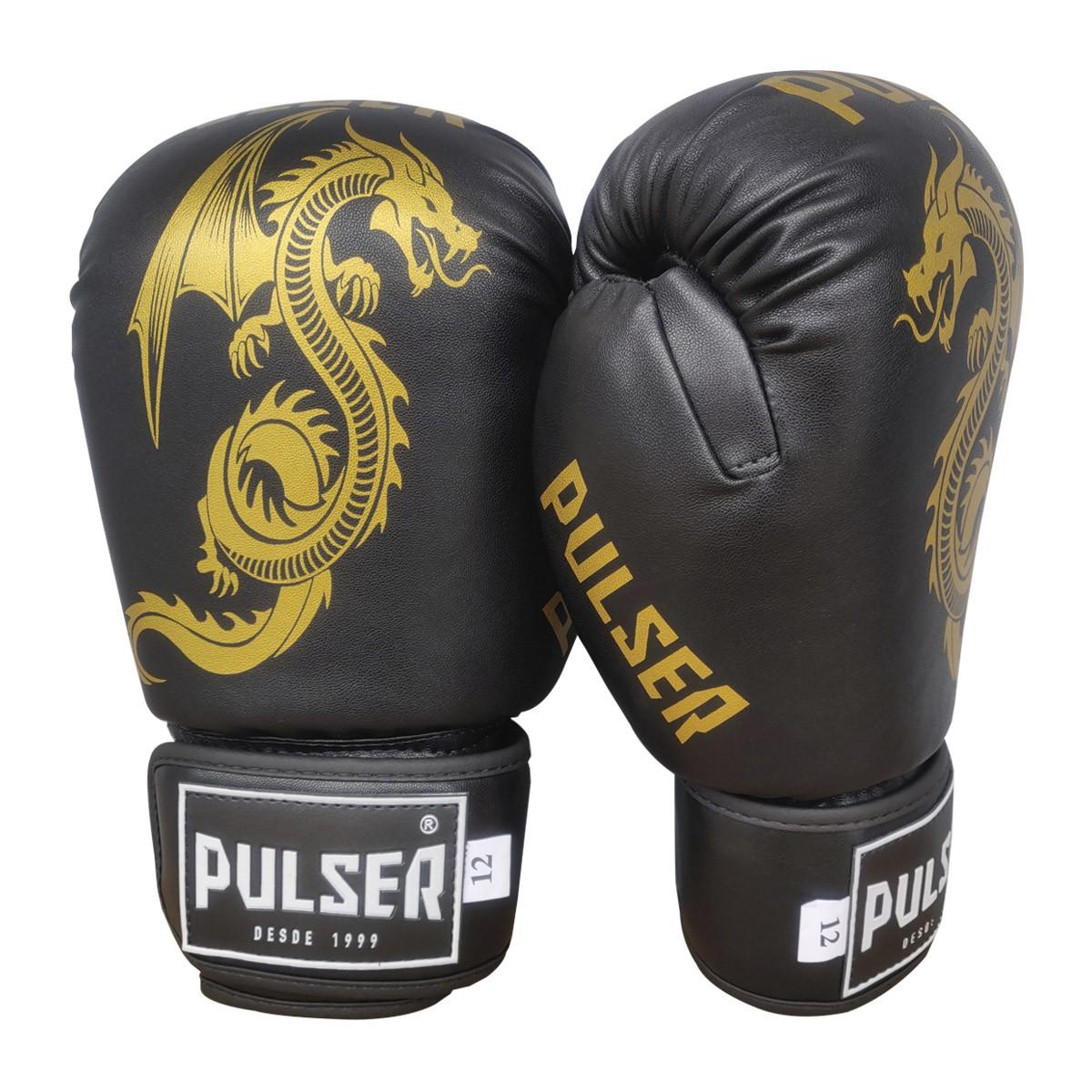 Kit Luva de Boxe / Muay Thai 12oz + Bandagem 3 Metros + Bucal Simples - Pulser  - PRALUTA SHOP