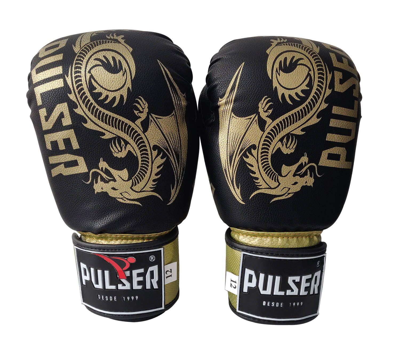 Luva de Boxe / Muay Thai 10oz - Dragão Preto New - Pulser  - PRALUTA SHOP