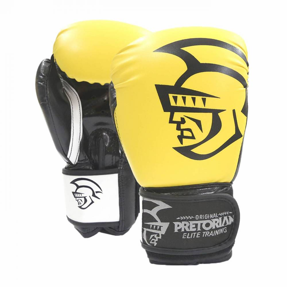 Luva de Boxe / Muay Thai 12oz - Amarelo - Elite Training - Pretorian  - PRALUTA SHOP