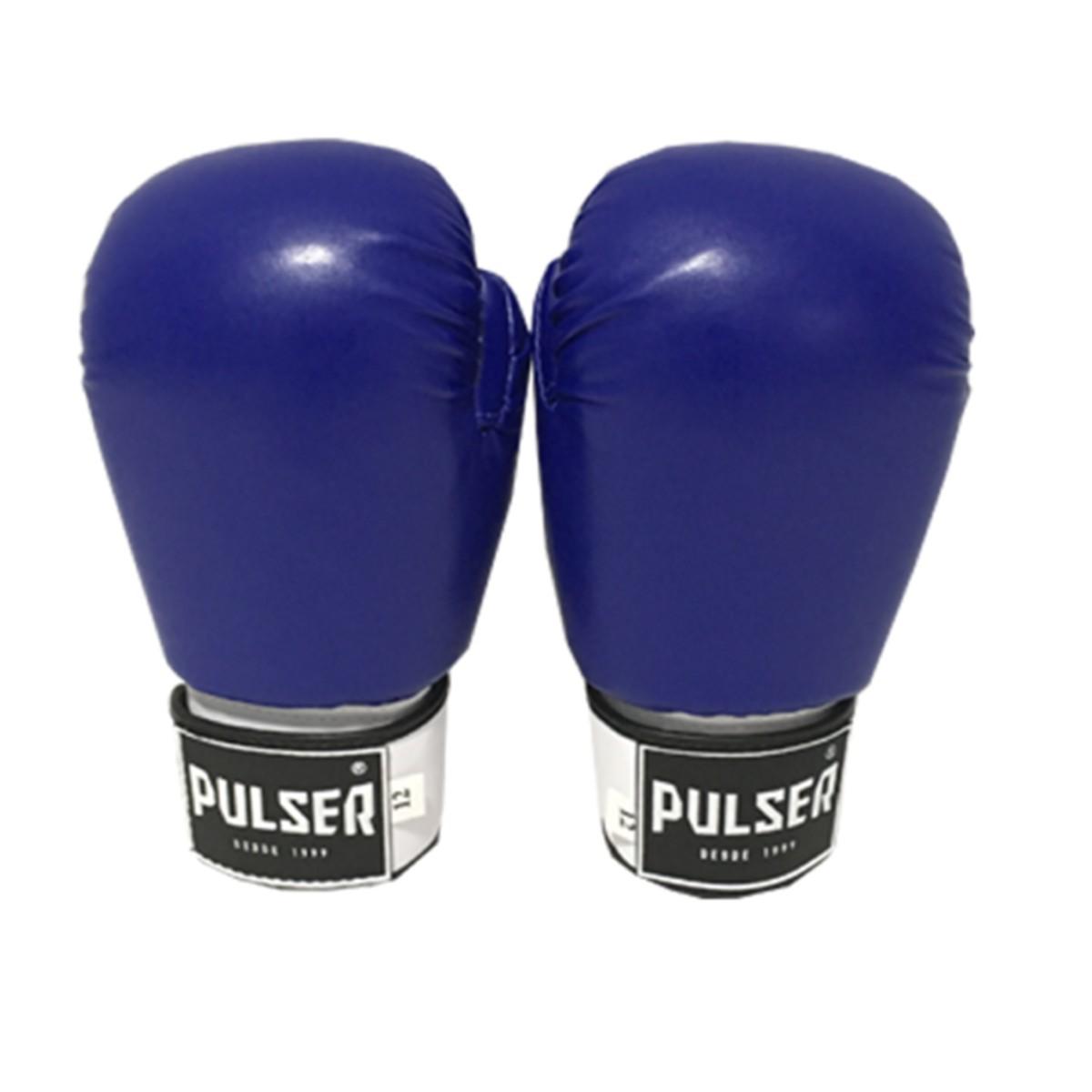 Luva de Boxe / Muay Thai 12oz - Azul - Pulser  - PRALUTA SHOP