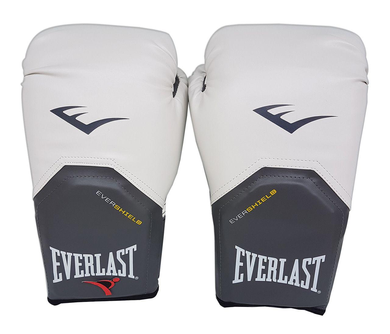 Luva de Boxe / Muay Thai 12oz - Branco - Pro Style - Everlast  - PRALUTA SHOP