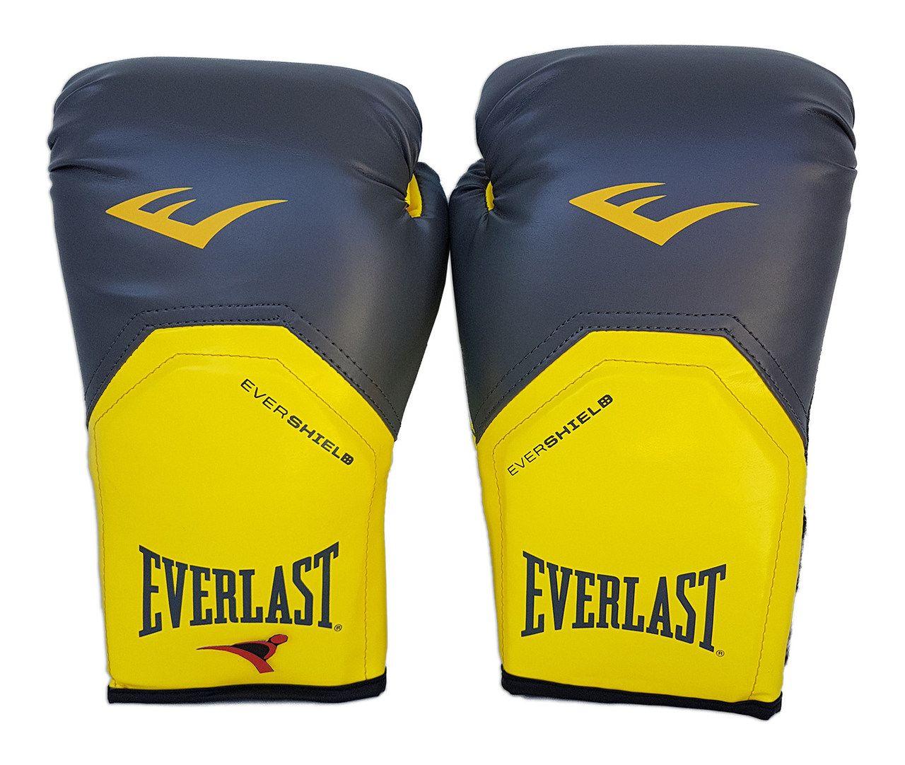 Luva de Boxe / Muay Thai 12oz - Cinza com Amarelo - Pro Style - Everlast  - PRALUTA SHOP