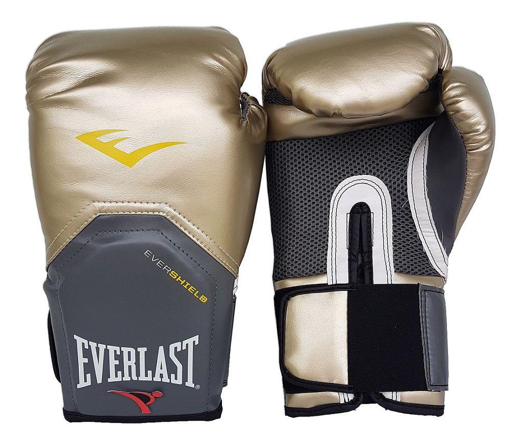 Luva de Boxe / Muay Thai 12oz - Dourado - Pro Style - Everlast  - PRALUTA SHOP