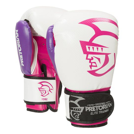 Luva de Boxe / Muay Thai 12oz Feminina - Rosa - Elite Training - Pretorian - PRALUTA SHOP