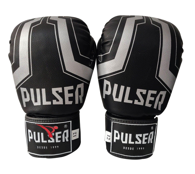 Luva de Boxe / Muay Thai 12oz - Iron Preto - Pulser  - PRALUTA SHOP