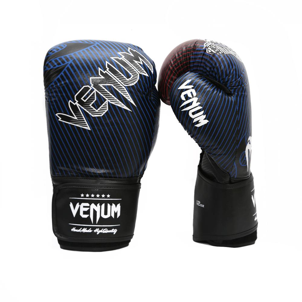 c94a298c6 Luva de Boxe   Muay Thai 12oz - Preto e Azul - Tiger Legend - Venum ...