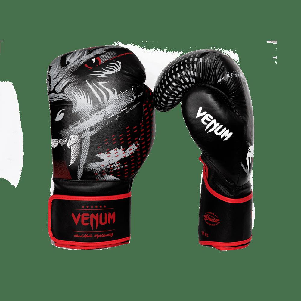 Luva de Boxe / Muay Thai 12oz - Preto e Vermelho - Lobo - Venum  - PRALUTA SHOP