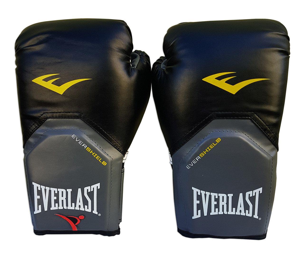 Luva de Boxe / Muay Thai 12oz - Preto - Pro Style - Everlast  - PRALUTA SHOP