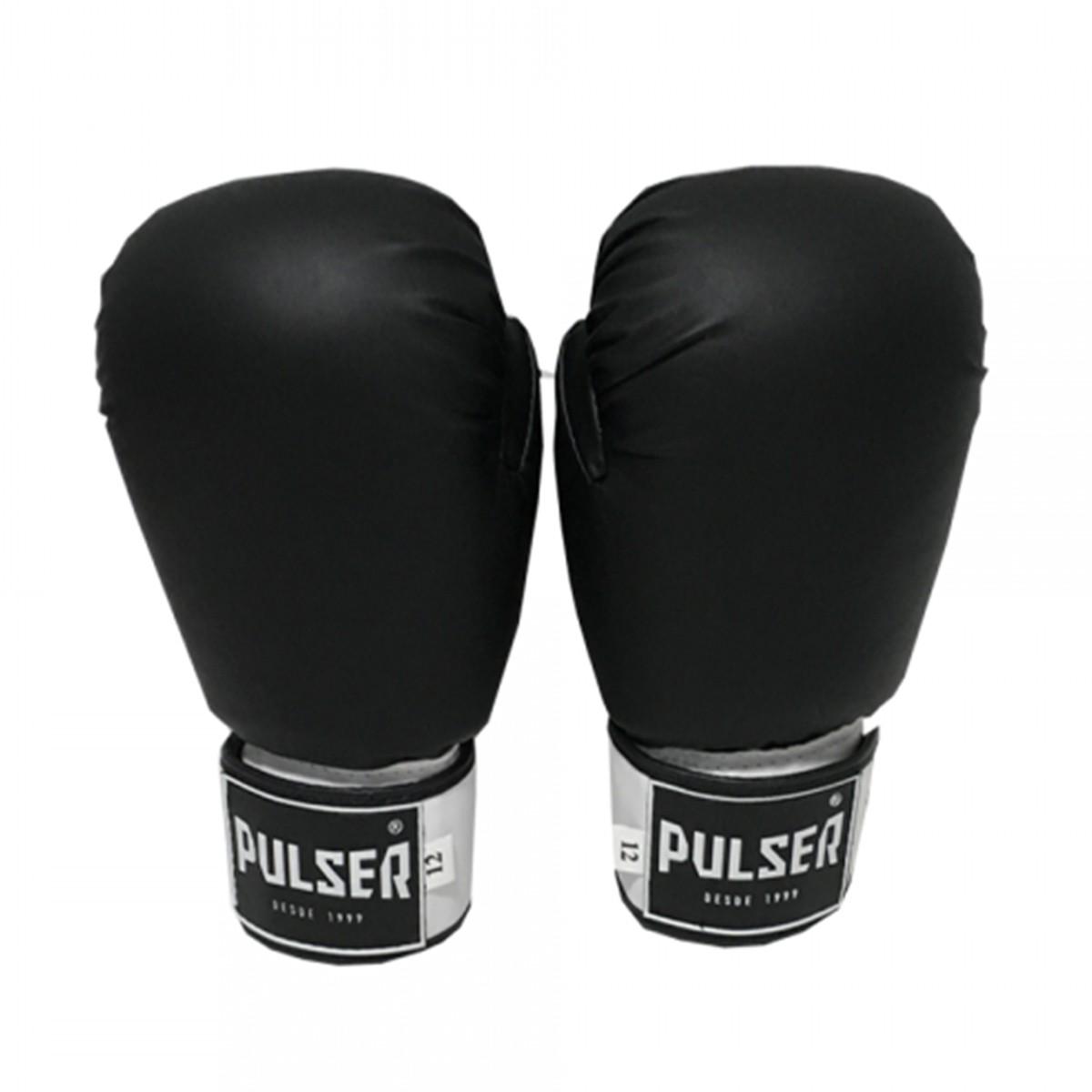 Luva de Boxe / Muay Thai 12oz - Preto - Pulser  - PRALUTA SHOP