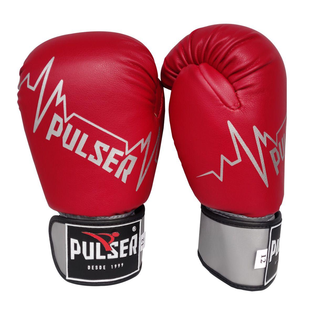 Luva de Boxe / Muay Thai 12oz - Vermelho Pulser -Pulser  - PRALUTA SHOP