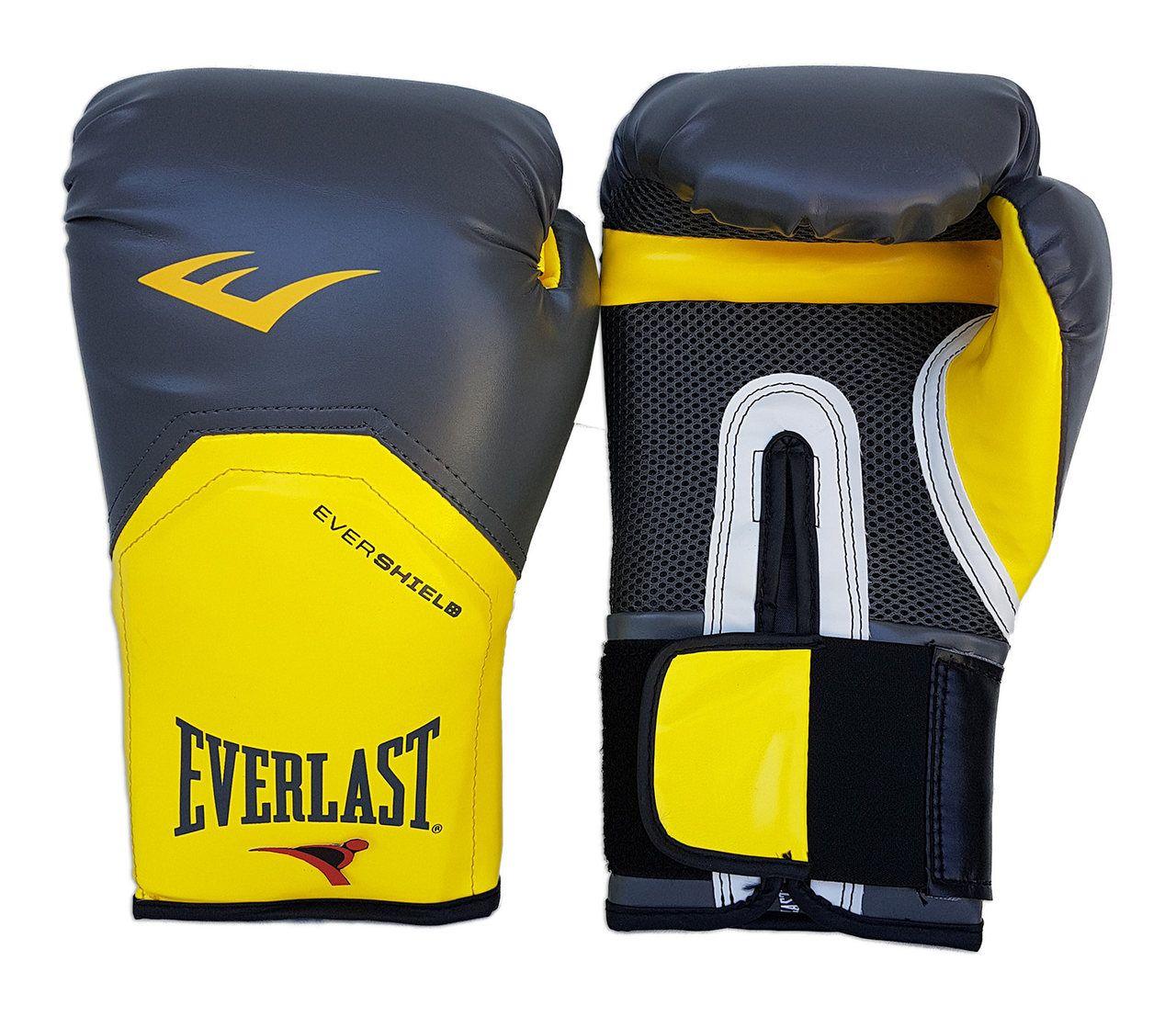 Luva de Boxe / Muay Thai 14oz - Cinza com Amarelo - Pro Style - Everlast  - PRALUTA SHOP