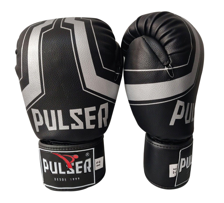 Luva de Boxe / Muay Thai 14oz - Iron Preto - Pulser  - PRALUTA SHOP