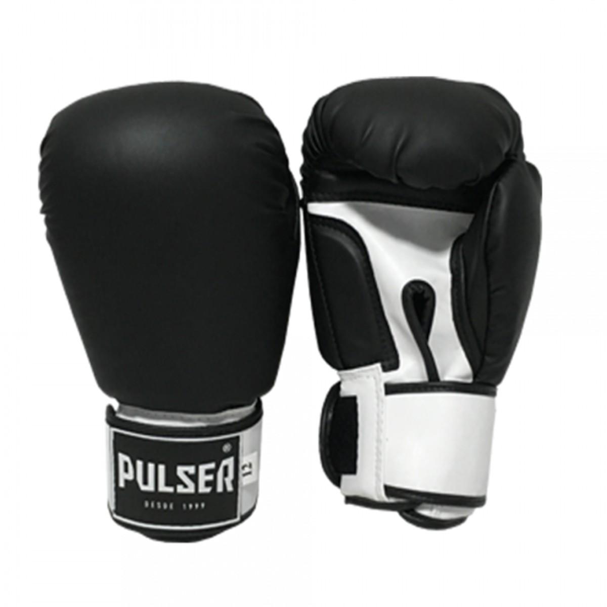Luva de Boxe / Muay Thai 14oz - Preto - Pulser  - PRALUTA SHOP