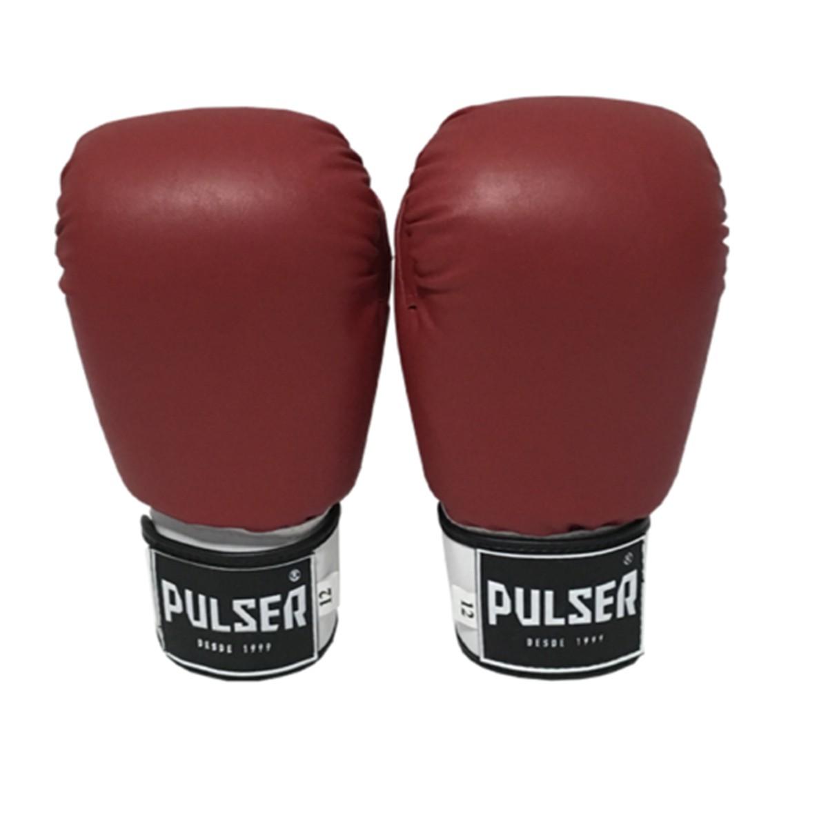 Luva de Boxe / Muay Thai 14oz - Vermelho - Pulser  - PRALUTA SHOP