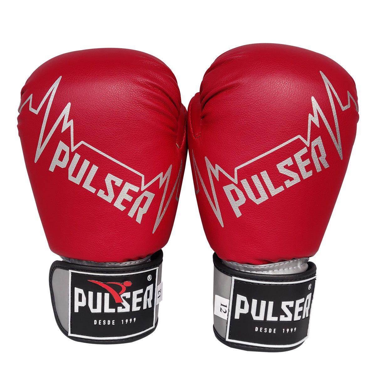 Luva de Boxe / Muay Thai 14oz - Vermelho Pulser Logo - Pulser  - PRALUTA SHOP