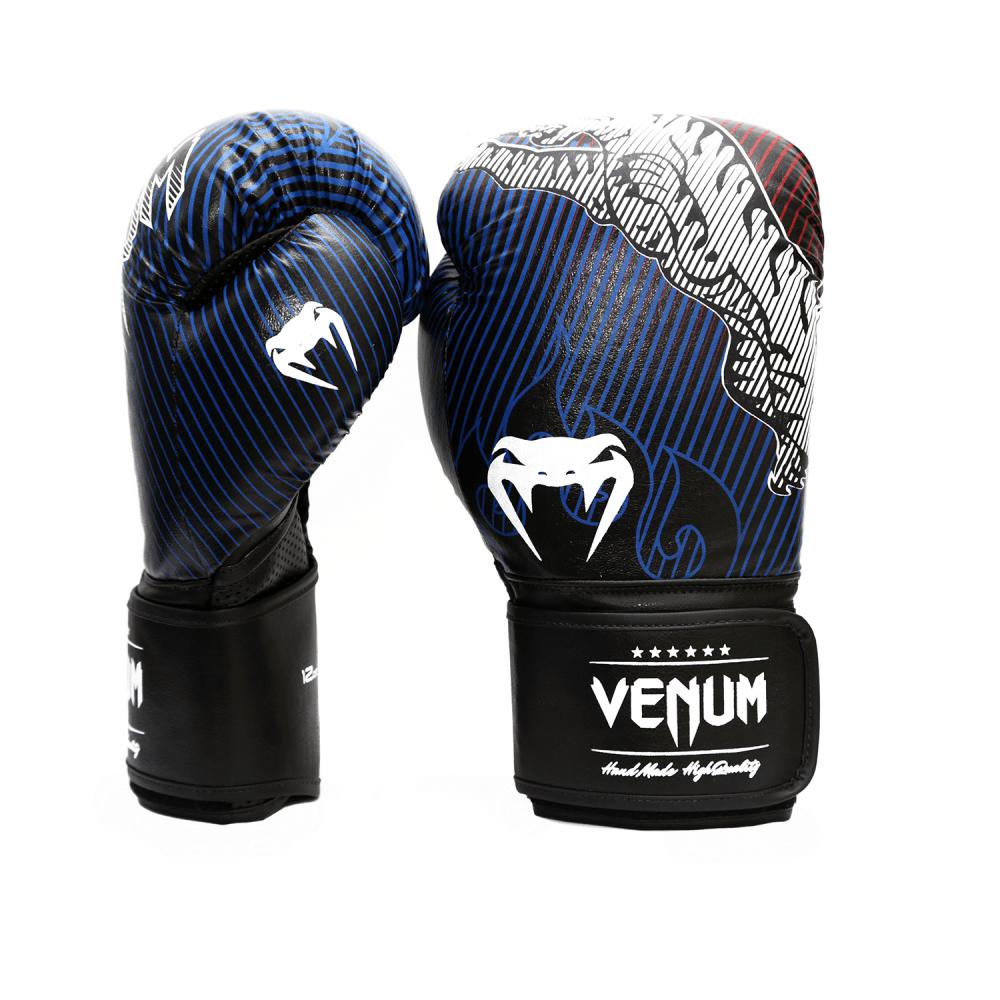 Luva de Boxe / Muay Thai 16oz - Preto e Azul - Tiger Legend - Venum  - PRALUTA SHOP