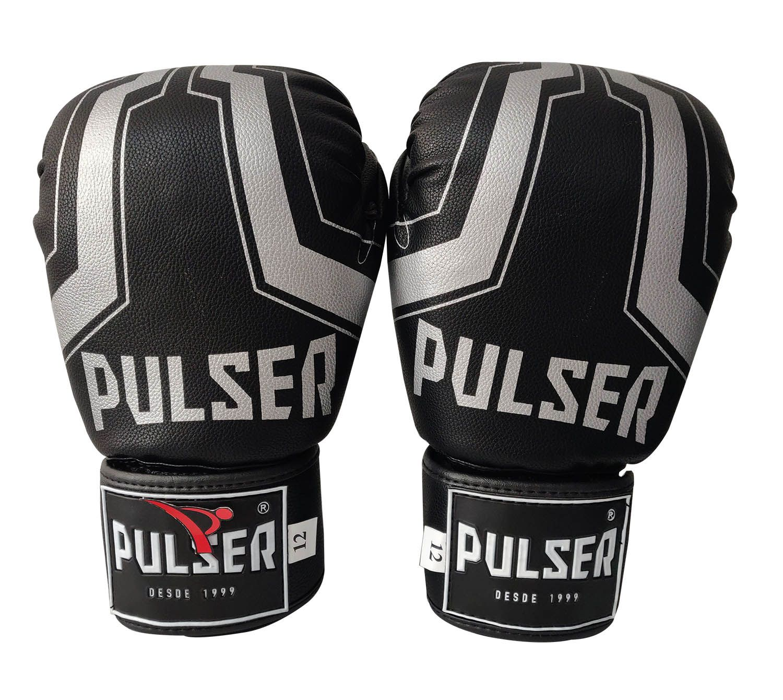 Luva de Boxe / Muay Thai 16oz - Preto Iron - Pulser  - PRALUTA SHOP