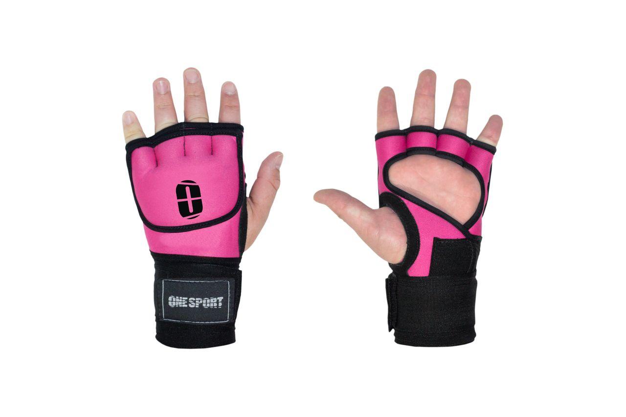Luva De Treino Gel Bandagem Elástica Rápida - Rosa - One Sport  - PRALUTA SHOP