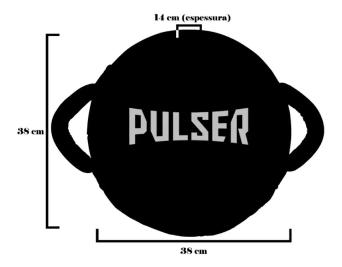 Manopla de Soco Governadora - Prata com Preto - Pulser  - PRALUTA SHOP