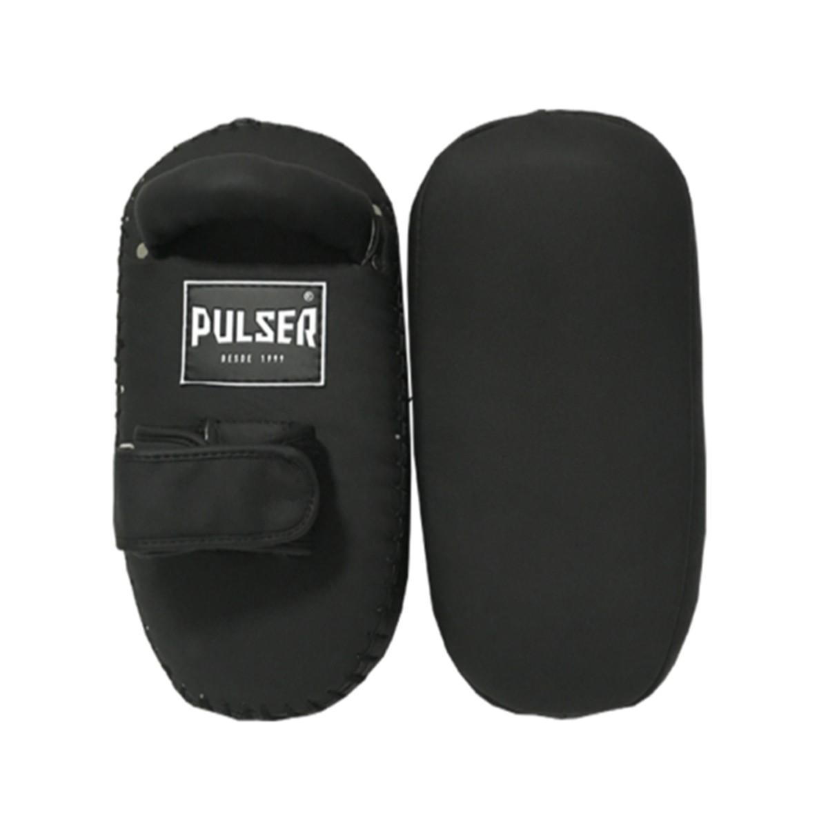 Par de Aparador de Chute Pao Thai Pad COURO - Preto - Pulser  - PRALUTA SHOP