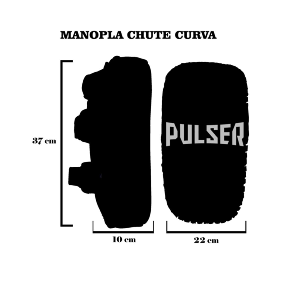 Par de Aparador de Chute Pao Thai Pad Curvo - Preto com Rosa Fluor - Pulser  - PRALUTA SHOP