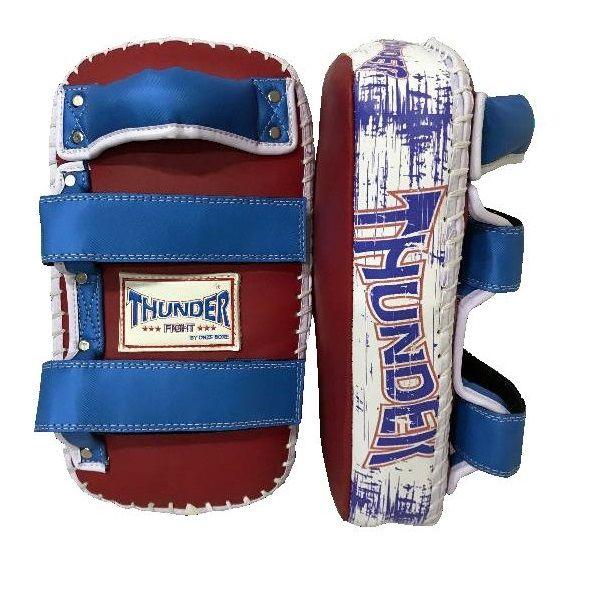 Par de Aparador de Chute Pao Thai Pad Tradicional - Vermelho com Azul - Thunder Fight  - PRALUTA SHOP