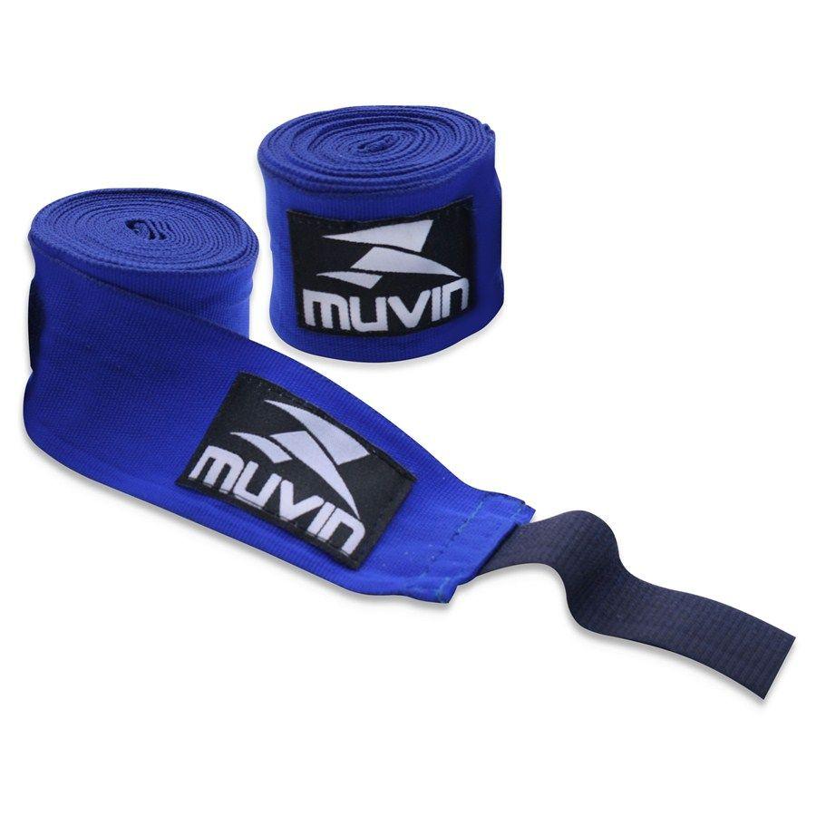 Par De Bandagem Atadura Elástica 3 Metros Muay Thai Boxe - Azul - Muvin  - PRALUTA SHOP