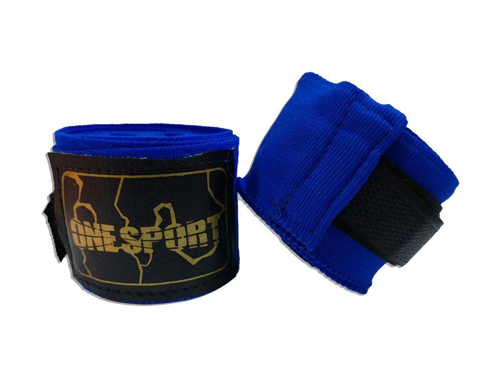 Par De Bandagem Atadura Elástica 3 Metros Muay Thai Boxe - Azul - One Sport  - PRALUTA SHOP