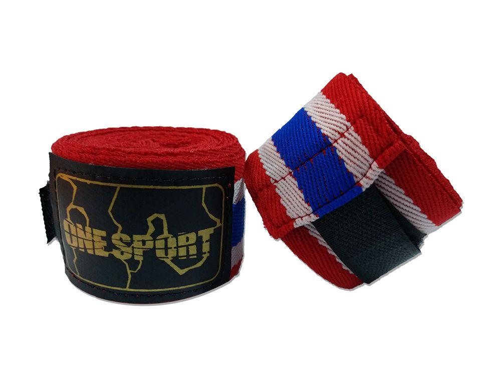 Par De Bandagem Atadura Elástica 3 Metros Muay Thai Boxe - Tailândia  - One Sport  - PRALUTA SHOP