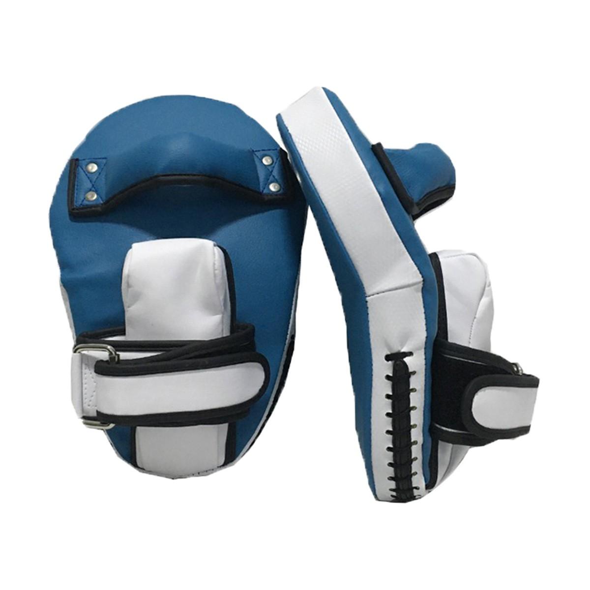 Par de Manopla de Foco Luva Longa com Pegador - Branco com Azul Claro - Pulser  - PRALUTA SHOP