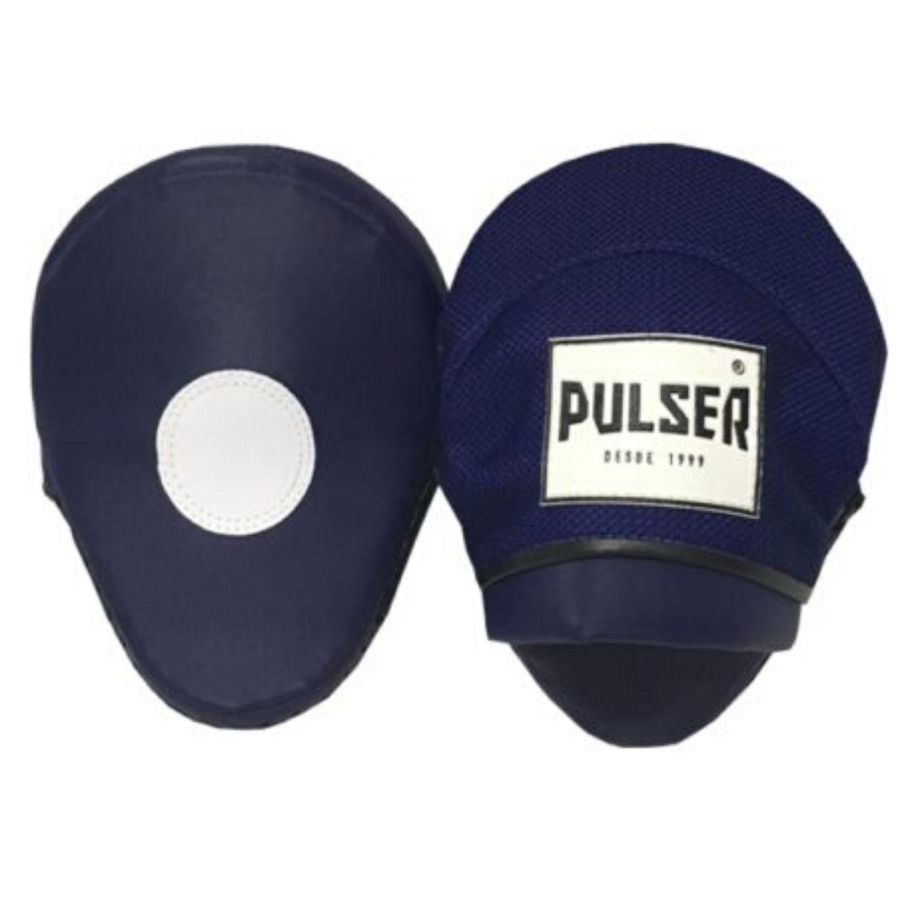 Par de Manopla Luva de Foco / Soco Confort Line - Preto com Azul - Pulser  - PRALUTA SHOP