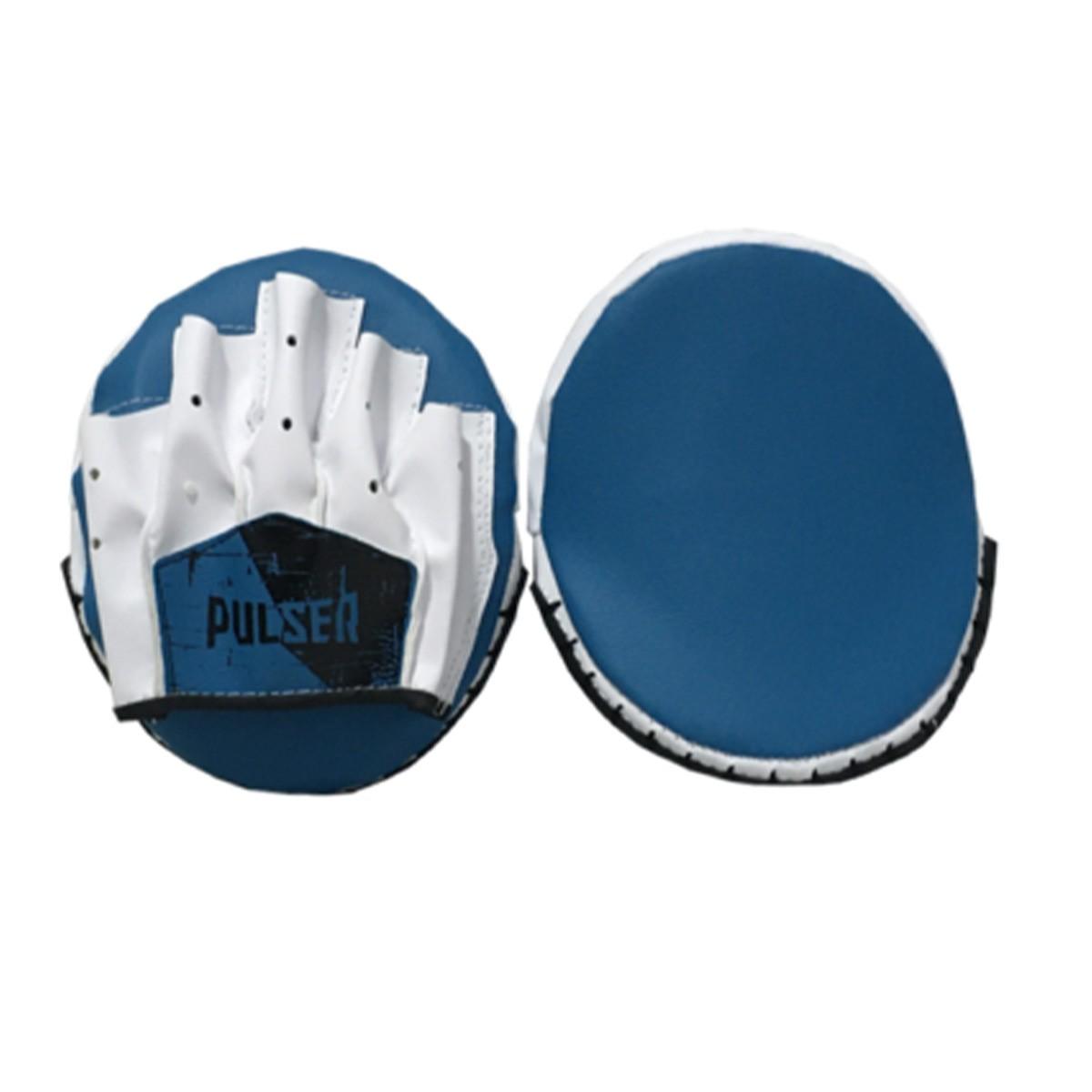 Par de Manopla Luva Foco Rápida - Branco com Azul - Pulser  - PRALUTA SHOP