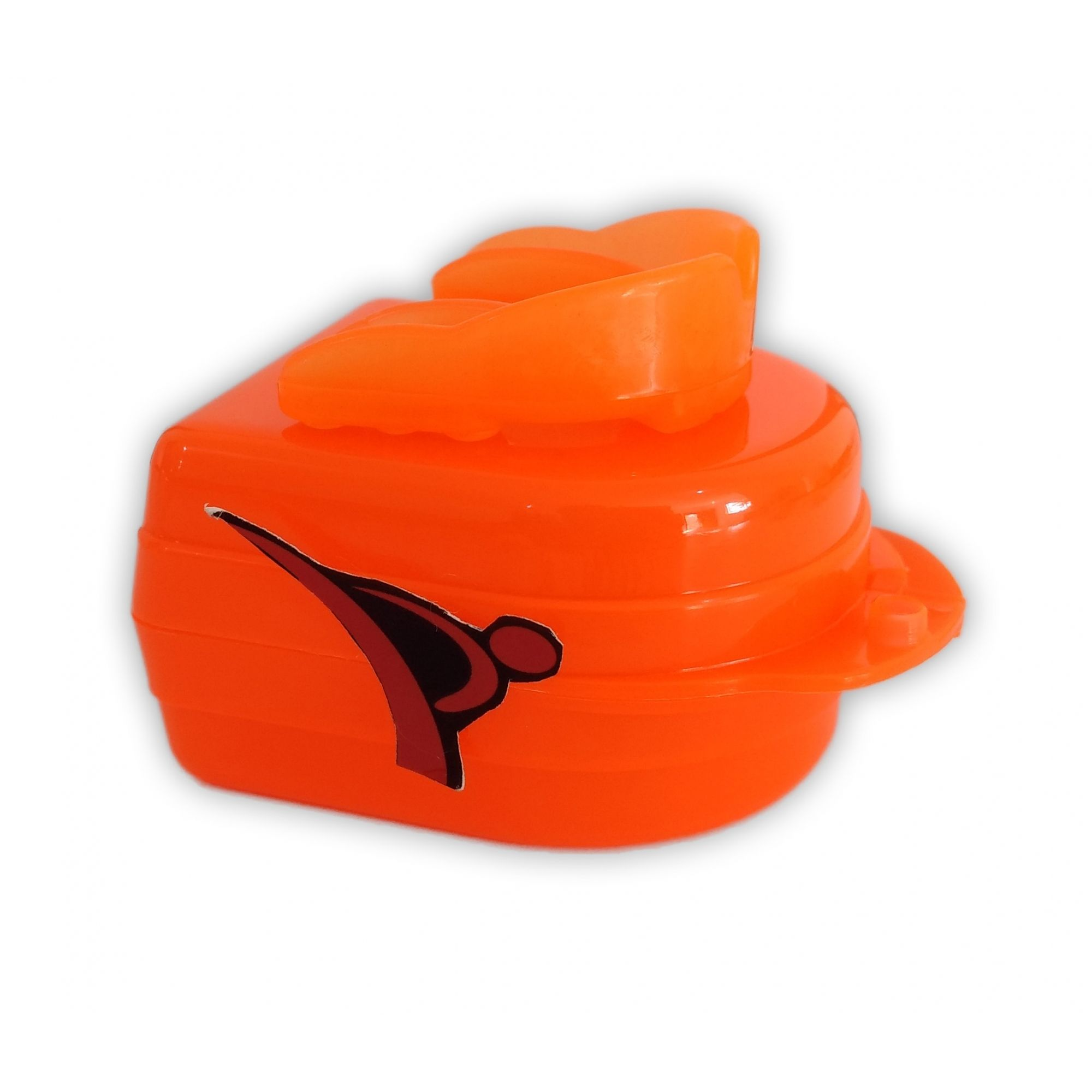 Protetor Bucal Dentes Simples Moldável Água Quente C/ Estojo Laranja - Vollo  - PRALUTA SHOP