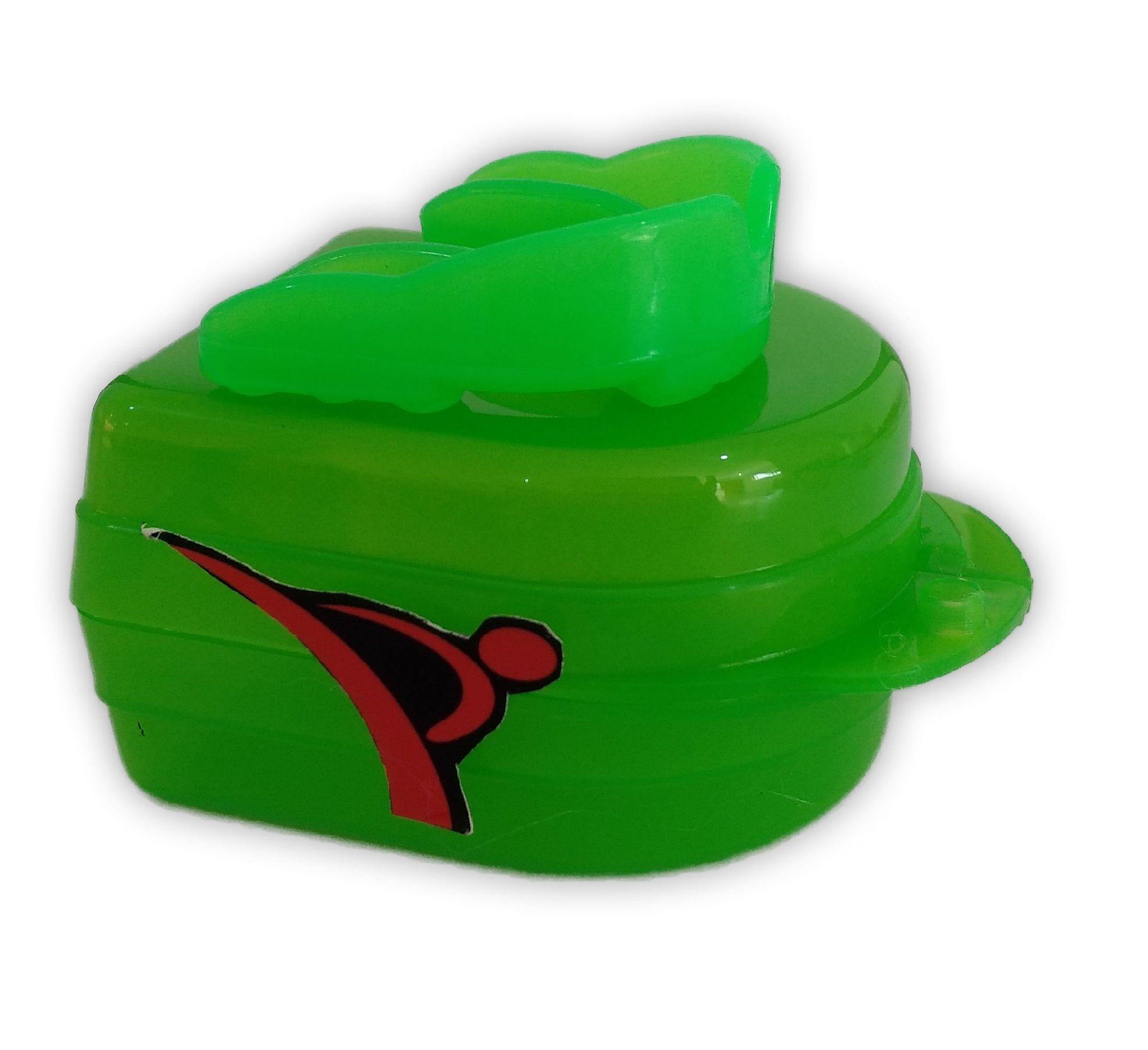 Protetor Bucal Dentes Simples Moldável Água Quente C/ Estojo Verde - Vollo  - PRALUTA SHOP
