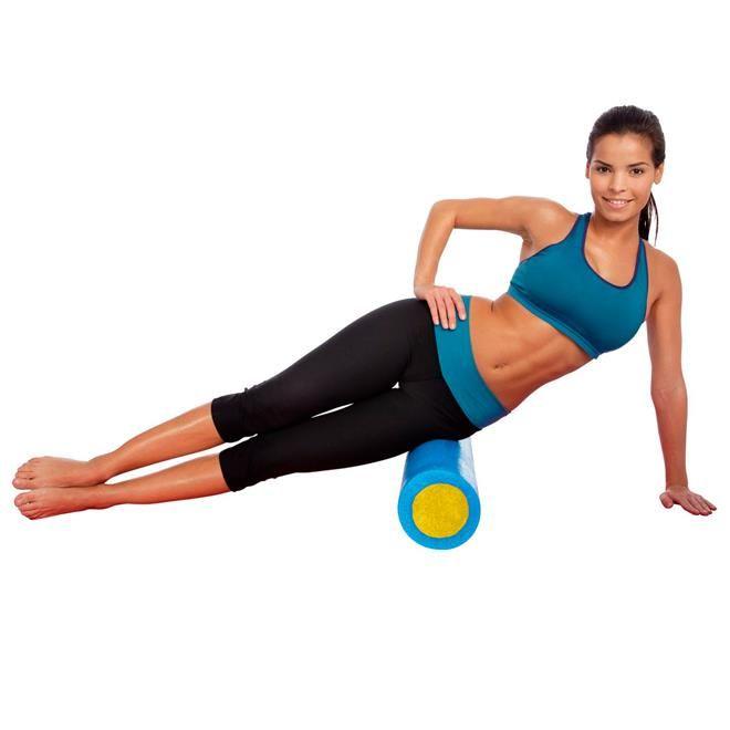 Rolo Espuma Fit Roll Foam Roller Para Pilates E Yoga - LiveUp   - PRALUTA SHOP