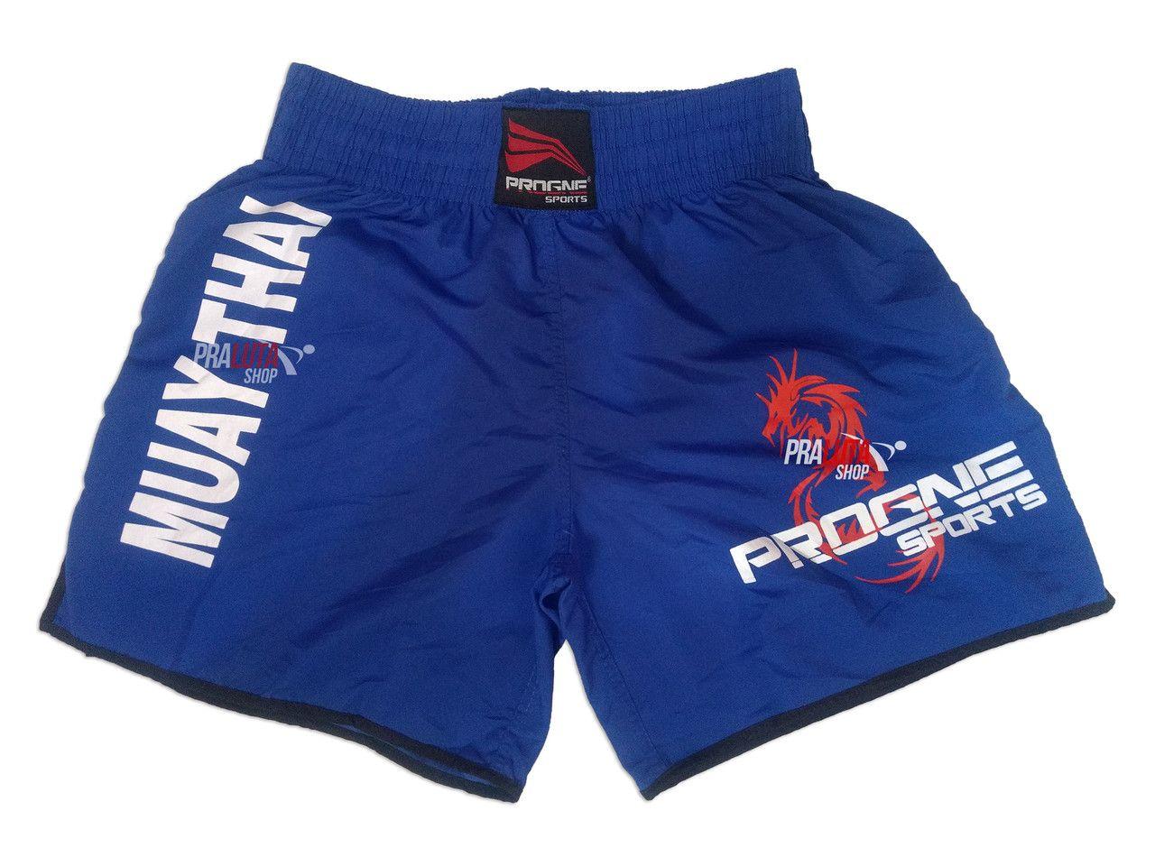 Shorts Bermuda Calção Treino Academia Top Muay Thai Azul Masculino - Progne  - PRALUTA SHOP