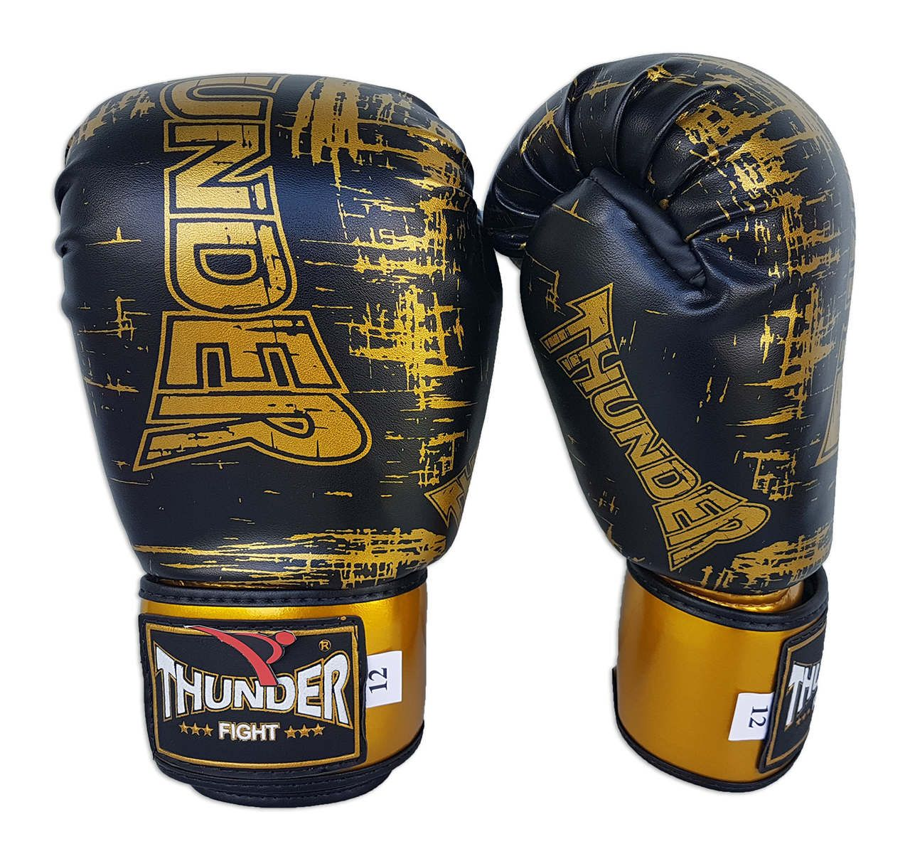 Super Kit de Muay Thai / Kickboxing 12oz - Caneleira G - Preto - Thunder Fight - PRALUTA SHOP