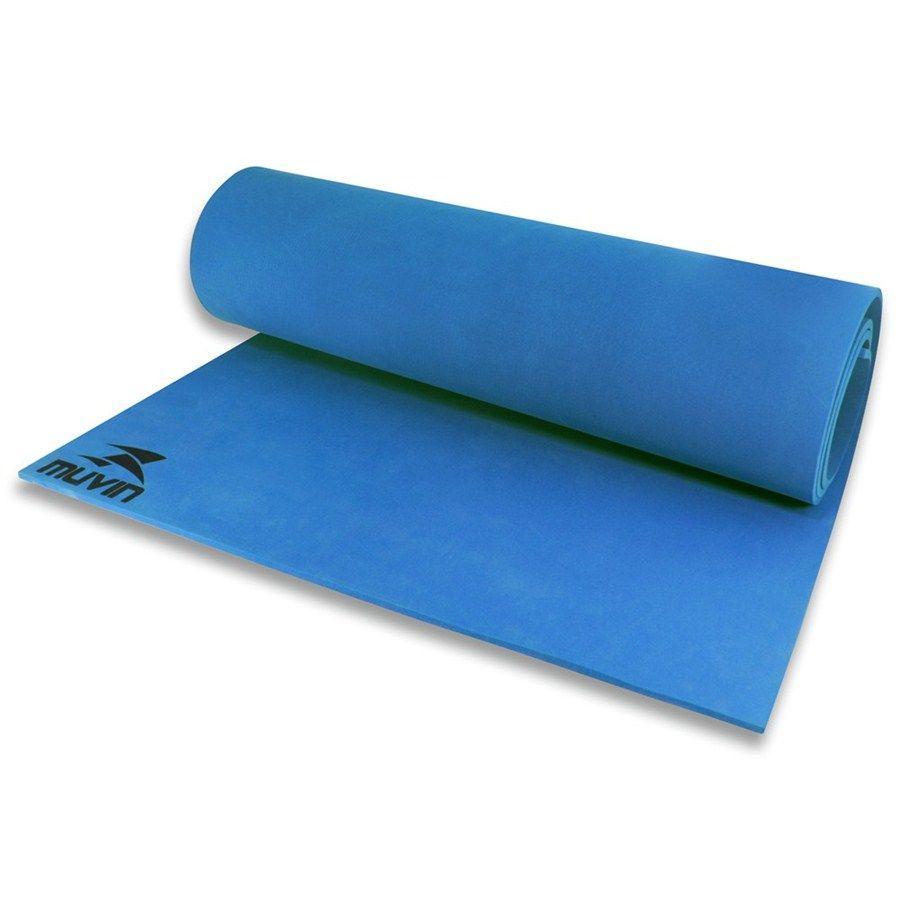 Tapete Colchonete Muvin Para Yoga E Pilates Ginastica Em Eva - Azul - Muvin  - PRALUTA SHOP