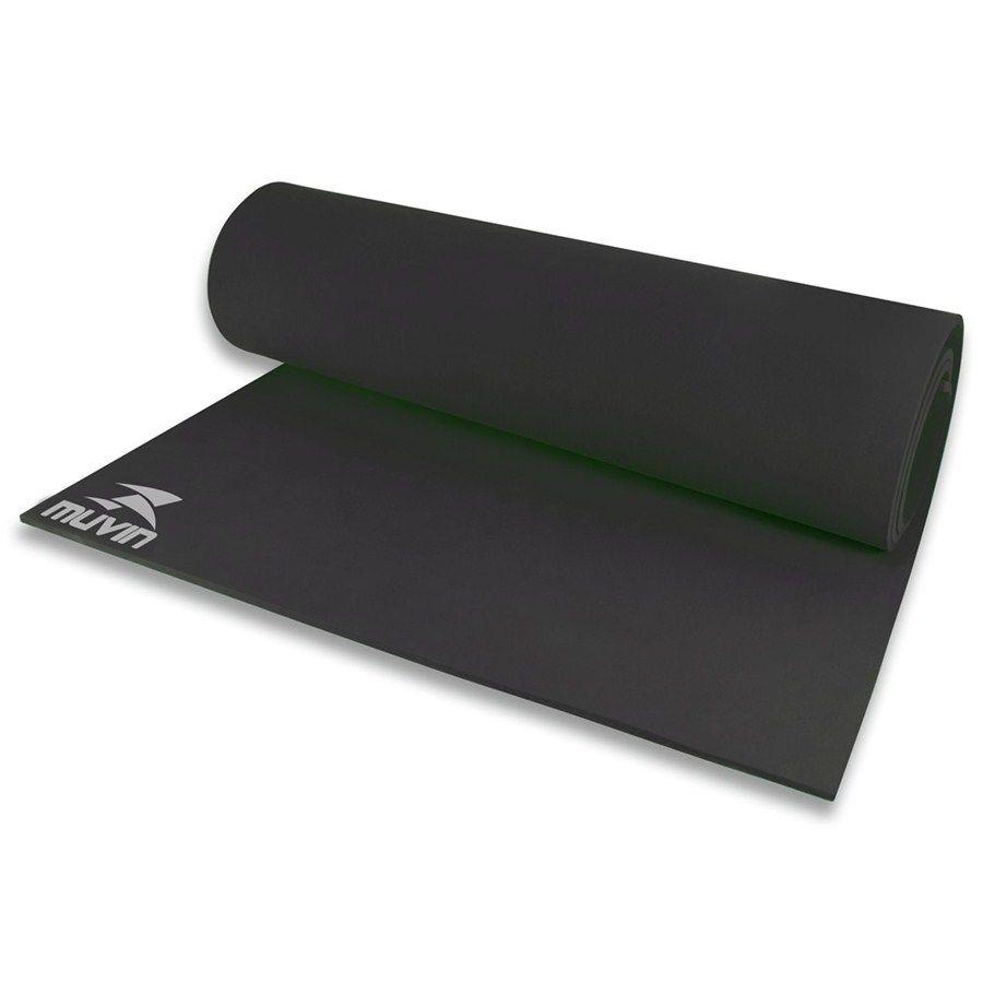 Tapete Colchonete Muvin Para Yoga E Pilates Ginastica Em Eva - Preto - Muvin  - PRALUTA SHOP