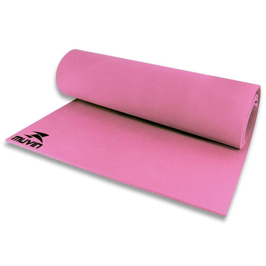 Tapete Colchonete Muvin Para Yoga E Pilates Ginastica Em Eva - Rosa - Muvin  - PRALUTA SHOP